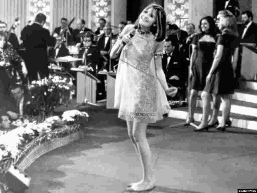 "Sixties siren Sandie Shaw put in an iconic barefoot performance when she won the Eurovision Song Contest for the United Kingdom with ""Puppet on a String"" during the ""Summer of Love"" in 1967."