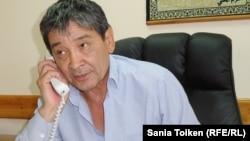 Әмин Елеусінов, ОСС кәсіподағы ұйымының төрағасы. Ақтау, қыркүйек 2015 жыл