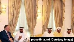 Igor Dodon la o întrevedere cu familia regală Al Qassimi în Emiratele Arabe Unite