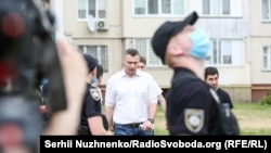 Міський голова Києва Віталій Кличко на місці інциденту, Київ, 21 червня