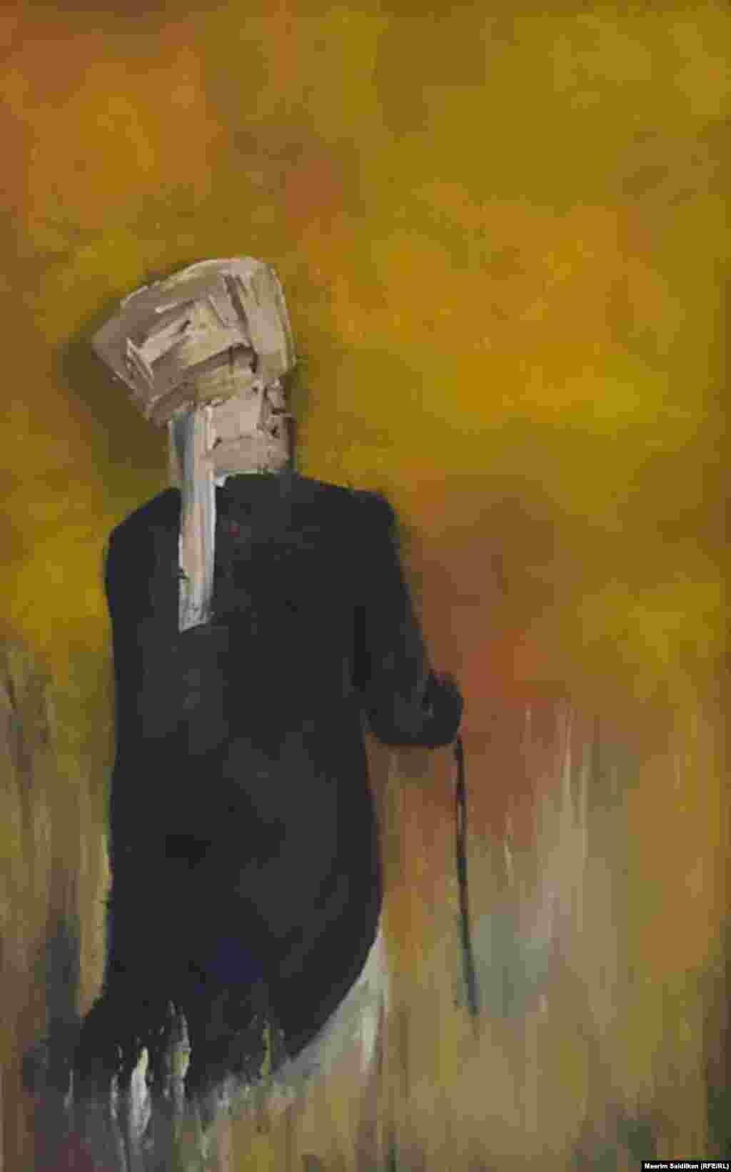 """Сапарбек уулу Тынчтык """"Соңку сапар"""" аттуу эмгеги, май боёк, 2019-жыл."""
