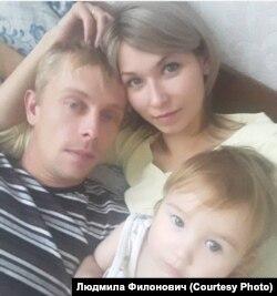 Семья Филонович, пострадавшая от наводнения, из поселка Октябрьский