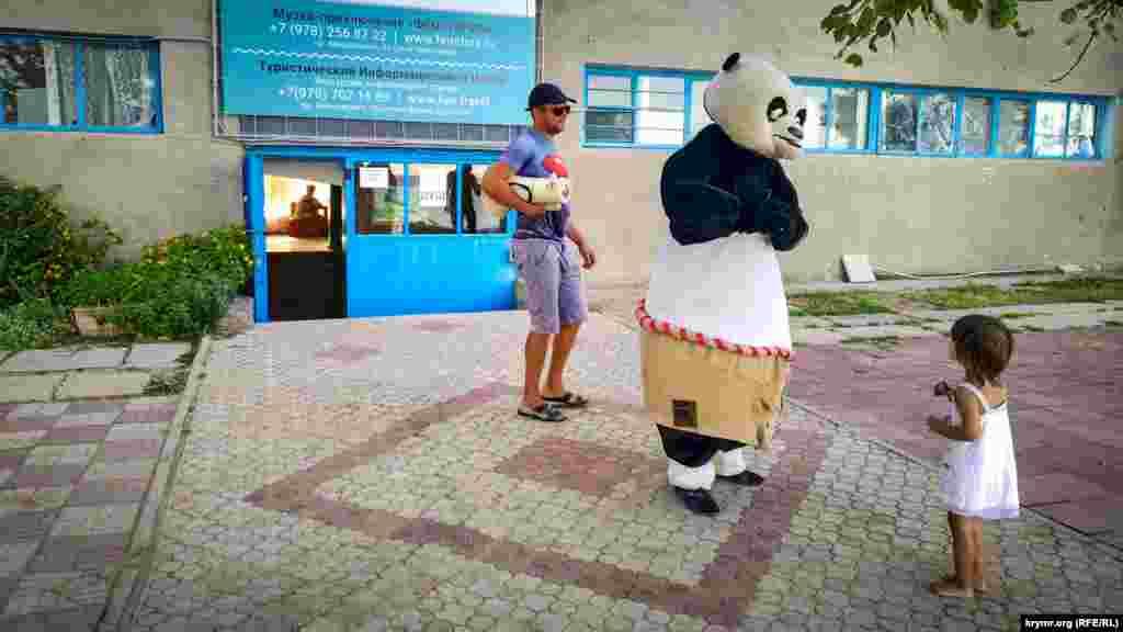 Кунг-фу Панда заглянул на пляж