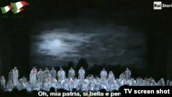 Imagine din spectacolul cu Nabucco la Opera din Roma