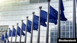 Steaguri ale UE în fața Comisiei Europene de la Bruxelles