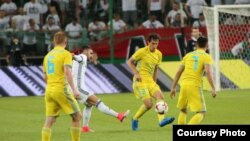 Матч казахстанского футбольного клуба «Астана» против польской команды «Легия». Варшава, 2 августа 2017 года.