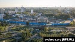 Будоўля «Газпром центра» ў Менску