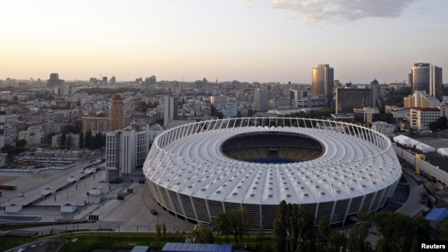 Kyiv's recently renovated Olympic Stadium