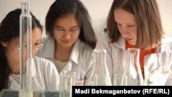 Казахстанские студенты исследуют качество кумыса. Иллюстративное фото.
