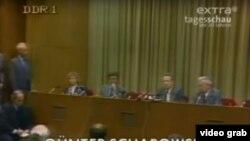პრესკონფერენცია, რომელიც გერმანიის დემოკრატიული რესპუბლიკის ტელევიზიით გადაიცემოდა 1989 წლის 9 ნოემბერს