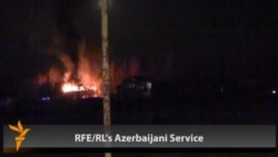 Cars, Buildings Set On Fire In Azerbaijani Protest