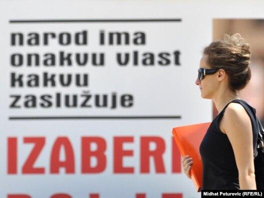 Bilbord na ulicama Sarajeva