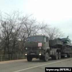 Пересування зенітних комплексів у Криму, 4 грудня 2020 року