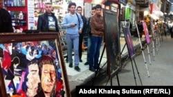 جانب من معرض فني أقيم في سوق بدهوك