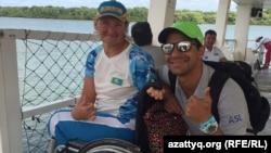Зульфия Габидуллина (слева) со своим тренером в Рио-де-Жанейро.