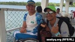 Зульфия Габидуллина с тренером в Рио.
