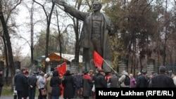 Митинг в честь годовщины Октябрьского переворота. Алматы, 7 ноября 2014 года.