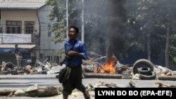 Protestat kundër puçit ushtarak në Mianmar.