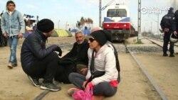 Мигранты перекрыли движение поездов в Македонии, протестуя против задержек на границе