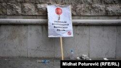 Sa protesta radnika u Sarajevu, 2015.