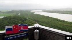 Ресей, Қытай және Солтүстік Корея арасындағы шекарадағы өзен. (Көрнекі сурет.)