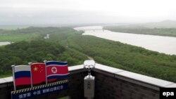 Река Туманная, где проходят границы России, Китая, Северной Кореи.
