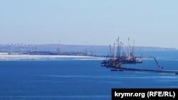 Строительство Керченского моста, иллюстрационное фото