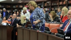 Архивска фотографија - Специјалната јавна обвинителка Катица Јанева, и јавниот обвинител марко Зврлевски на Седница на собраниската Комисија за политички систем и односи меѓу заедниците