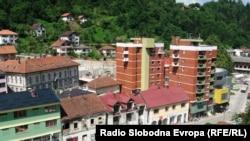 Pamje e një pjese të qytetit Srebrenica në Bosnjë Hercegovinë