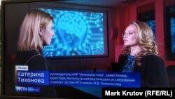 """Фрагмент сюжета """"Вестей в 20:00"""" от 6 декабря 2018 года, интервью с Катериной Тихоновой"""