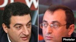 ԱԺ պատգամավորներ Վարդան Այվազյանը (ձախից) եւ Արծվիկ Մինասյանը:
