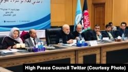 َAfghanistan - Mohammad Omar Daudzai head of High Peace Council Secretariat during a speech in this council, 15 Jan 2019 محمد عمر داوودزی
