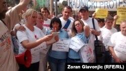Sa protesta radnika Goše u Beogradu