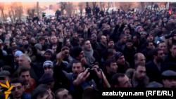 Акция протеста перед зданием прокуратуры Ширакской области в Гюмри, 15 января 2015 г․և, 15-ը հունվարի, 2014թ․