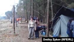 Цаговский лес, Подмосковье, лагерь защитников леса, 18 апреля 2012