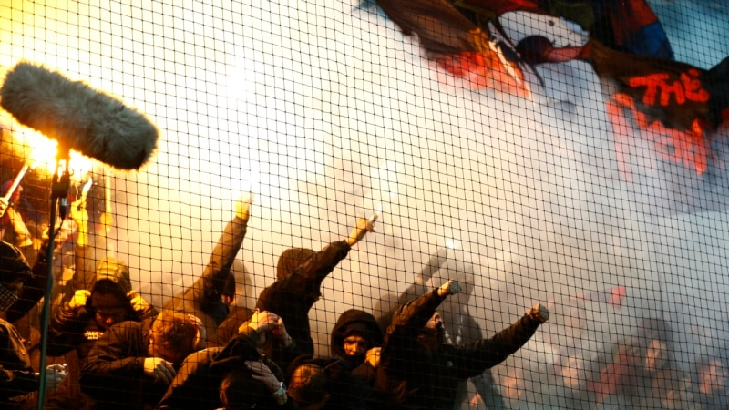 Eight Arrested, One Hospitalized After Soccer Fans Clash With Police In Russia