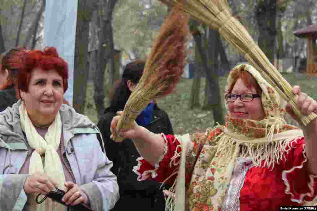 Olga Korchagina (right) is the director of the folk ensemble and main festival organizer.
