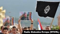 Сараева – басьнійскія сэрбы пратэстуюць супраць арышту Младзіча, 27 траўня, 2011