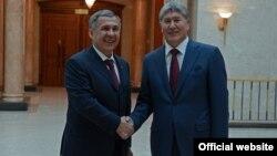 Татарстандын президенти быйыл 3-мартта Бишкекке расмий сапар менен келген.
