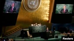 Петро Порошенко під час дебатів в ООН, 29 вересня 2015 року