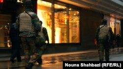 Patrullim i forcave të sigurisë në rrugët e Brukselit
