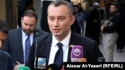 لممثل الخاص لأمين عام الامم المتحدة في العراق نيكولاي ميلادينوف في النجف، 7/11/2013