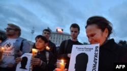Акция солидарности с журналистами в память об убитом Георгии Гонгадзе. Киев, 16 сентября 2013 года.