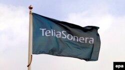 Флаг скандинавского оператора связи Тelia Sonera (ныне Telia Company).