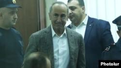 Former Armenian President Robert Kocharian in court, November 7, 2019
