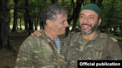Aktyor Məmməd Səfa və Cavanşir Hadıyev film çəkilişləri zamanı