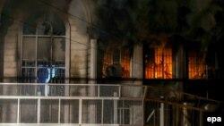 Իրան - Վրդովված ցուցարարները հրկիզել են Սաուդյան Արաբիայի դեսպանատունը, Թեհրան, 2-ը հունվարի, 2015թ․