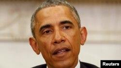 ԱՄՆ նախագահ Բարաք Օբաման ելույթի ժամանակ, արխիվ