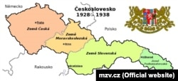 Мапа Чехословацької Республіки