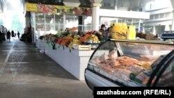 Parahat-1 mikroraýonyndaky bazar, Aşgabat